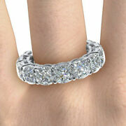 Cushion Cut 3.50 Ct Real Diamond Wedding Band 14k Solid White Gold Size 6 7 8 9