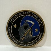 Us Navy Peo Unmanned Aviation And Strike Weapons - Predator Reaper Challenge Coin