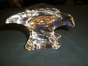 Steuben Glass Flying Soaring Bird Eagle - Signed - Vg Condition