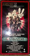 Ghostbusters 2 Ii Rca Vhs Promotional Copy W/ Copper Foil Stamps Super Rare Look