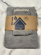 New Norwex Baby Bath Hooded Towel And Wash Cloth Set With Baclock Gray Yellow