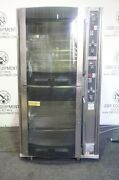 Bki Double Stacked Electric Commercial Rotisserie Oven Model Vg-16 Capacity 80