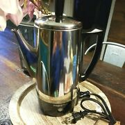Presto 6 Cup Electric Percolator Coffee Pot Model 0282202 - Stainless Steel