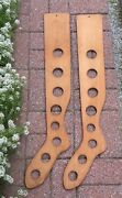Interesting Antique Wooden Long Stocking Stretchers Size 10 Sock Forms L@@k
