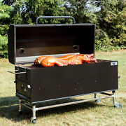 New 60 Charcoal / Wood Pig Cooker Smoker Grill With Adjustable Grates And Dome