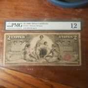 Fr 247 1896 2 Silver Certificate Educational Pmg 12
