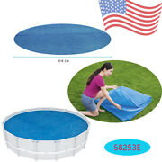 Bestway 58253e 16ft Pool Solar Heat Cover For Round Above Ground Swimming Pool