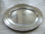Large Christofle Rubans Silver Plate Oval Serving Tray Platter 19 2/3