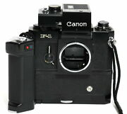 Canon F-1 W. Motor Drive Mf And Battery Grip Mf + Booster T Finder