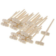 30pcs Lots Mini Natural Wood Mallets Wooden Hammers For Carving Stamping Crafts
