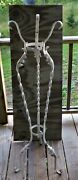 Antique Vintage Twisted Wrought Iron Garden Plant Stand
