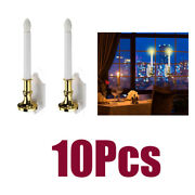 5x Vintage Christmas Flameless Window Solar Candles Lights W/ 10 Suction Cup