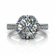 Round Real Diamond Engagement Ring For Womenand039s 950 Platinum 0.90 Ct Size 5.5 6 7