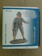 54mm The Old Northwest Trading Co. Wwii Us Officer With Carbine