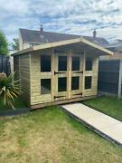 Garden Shed Summer House Tanalised Ultimate Heavy Duty 10x10 22mm Tandg. 3x2
