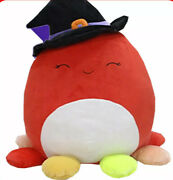 Squishmallows Official 2021 Halloween 16 Detra The Octopus Witch Plush Doll Toy