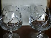 Mikasa Lead Crystal Brandy/cognac Glasses, Olympus Design, Thick And Heavy