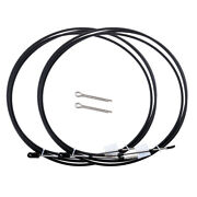 2pcs 14ft Marine Throttle Control Cable For Yamaha Outboards Engines Black