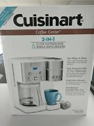Cuisinart Coffee Center 12-cup Coffee Maker Single-serve Brewer White/stainless