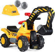 Play22 Toy Tractors For Kids Ride On Excavator - Music Sounds Digger Scooter Tra