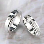 Solid 18k White Gold 0.35 Ct Diamond Engagement Couple Band All Size Available