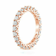 Christmas Sale Eternity Ring 14k Rose Gold 2.50 Ct Natural Diamond Size 6