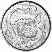 Kraken Privateer Series 4th Release 2 Oz Ultra High Relief Silver Round