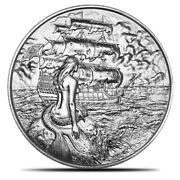 Siren Privateer Series 2nd Release 2 Oz Ultra High Relief Silver Round