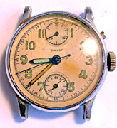 Vintage Gallet Military Chronograph Dial And Movement In Custom Case For Repair