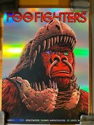 Foo Fighters Poster Hollywood Casino Amp St. Louis, Mo 8/3/21 Foil Variant /30