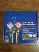 Yellow Jacket 49967 Titan Manifold 3-1/8 With Gauges With Hoses