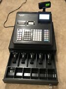 Sharp Xe-a43s Electronic Cash Register With Manuel, Keys, And Drawer Great Shape