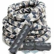 Battle Rope For Crossfit And Undulation Training - W/ Anchor 50.0 Feet 1.5 Inches