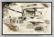 William Dole Original Painting Mixed Media On Board Industrial Machine Signed