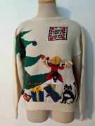 Allen Lolly Novelty - Wool Christmas Sweater Small Nwt Free Ship