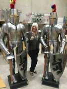 Set Of Two Full Body Collectible X-mas Armour Medieval Wearable Knight Crusader