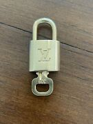 Authentic Louis Vuitton Brass Padlock Lock With One Key 309