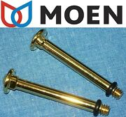 2 New Moen Polished Brass Small Lever Handle Insert Monticello Kitchen Porcelain