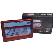 Rec Zone Red Portable Color Touch- Screen 7-n-1 Video Poker Games