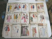 Huge Lot Of 118 Vintage Sewing Patterns Mixed Sizes Simplicity Butterick Mccalls