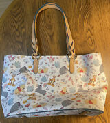 Disney Parks Dooney And Bourke Winnie The Pooh And Friends Large Tote Pre-owned