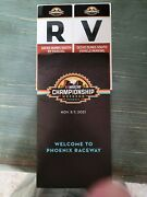 Nascar Championship Tickets Camping 2 Tickets Each Race 2 Infield Wrist Bands.