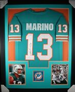 Dan Marino Dolphins Teal Tower Signed Autographed Framed Jersey Jsa