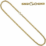 King's Chain 333 Yellow Gold 0 1/8in 16 17/32in Necklace Carabiner
