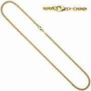 Pea Chain 585 Yellow Gold 0 1/8in 31 1/2in Gold Necklace Gold Chain Carabiner