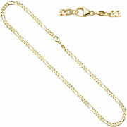 Figaro Chain 585 Yellow Gold 0 5/32in 17 23/32in Necklace Carabiner
