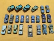 Lot Of 23 Vintage Blue Tootsietoy And Lesney Diecast Cars Trucks Lot 2/15