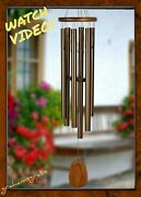 Woodstock Chimes Amazing Grace Bronze Wind Chime Large 40 Inch Musically Tuned