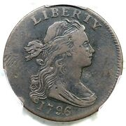 1796 S-98 R-4 Pcgs Vf Details Rev Of 95 Draped Bust Large Cent Coin 1c
