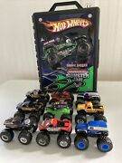 Hot Wheels Monster Jam Monster Truck 164 Lot Of 24 Different W/ Case And Rares